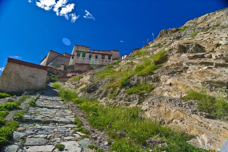 Alte tibetanische Festung stockfoto