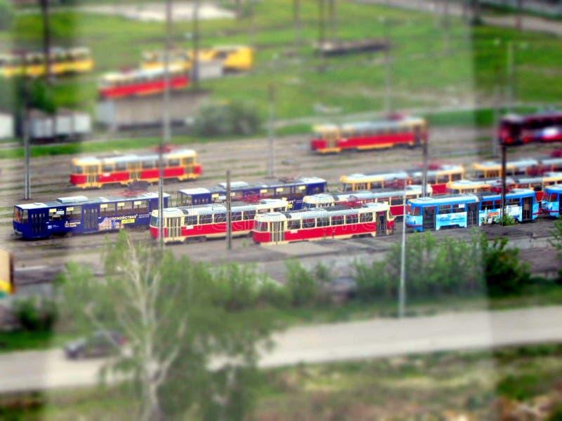 Alte Trams der Tschechoslowakei stockfotos