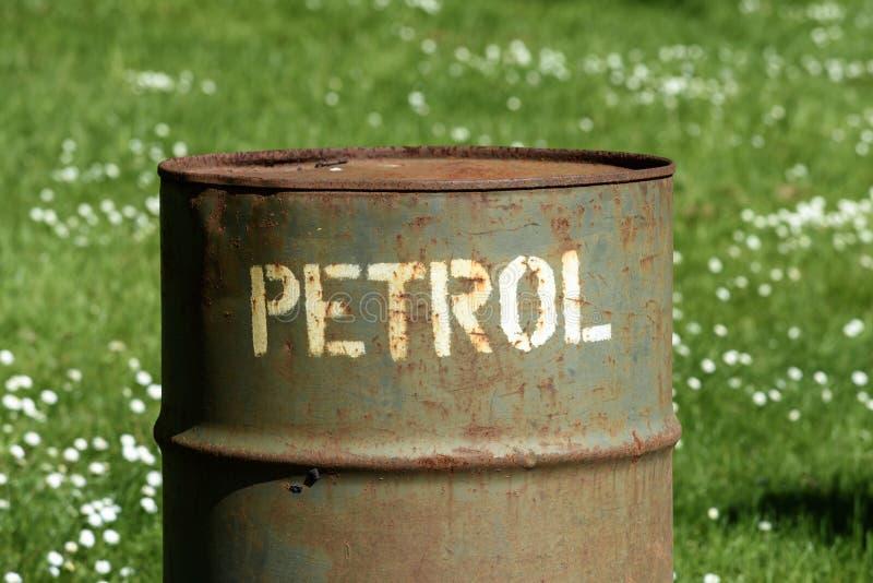 Alte Treibstoffdose lizenzfreies stockbild