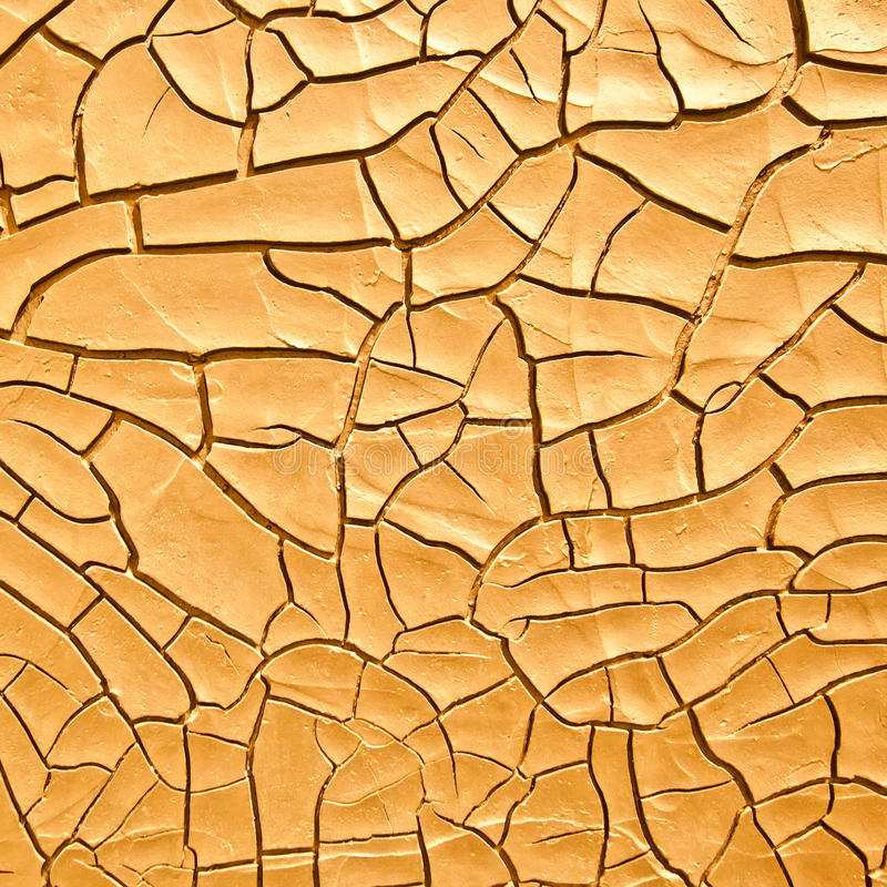 Alte trockene gebrochene Oberfläche stockbild