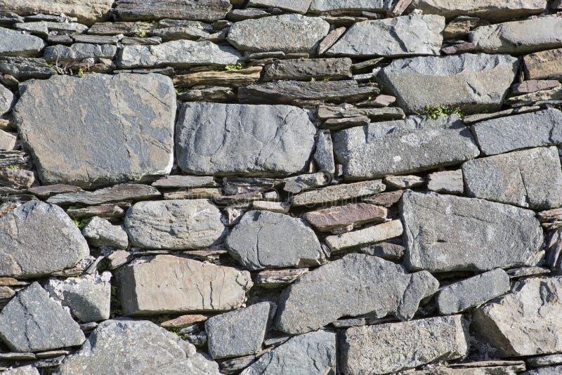 alte Trockenmauer in einer alten Kirche in Irland lizenzfreie stockbilder