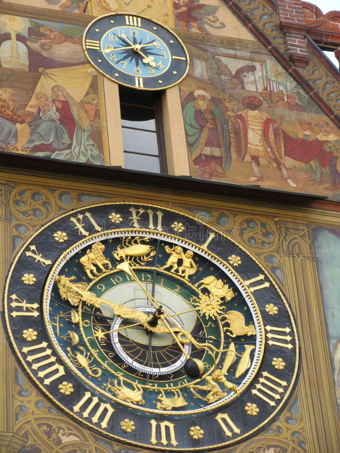 Alte Uhr stockbild