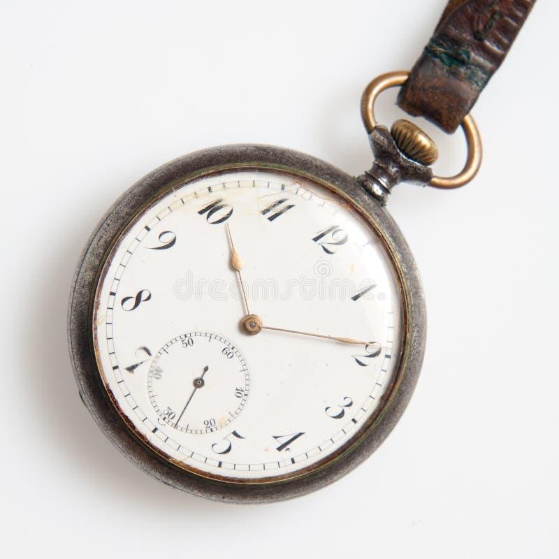 Alte Uhren getrennt stockfotografie