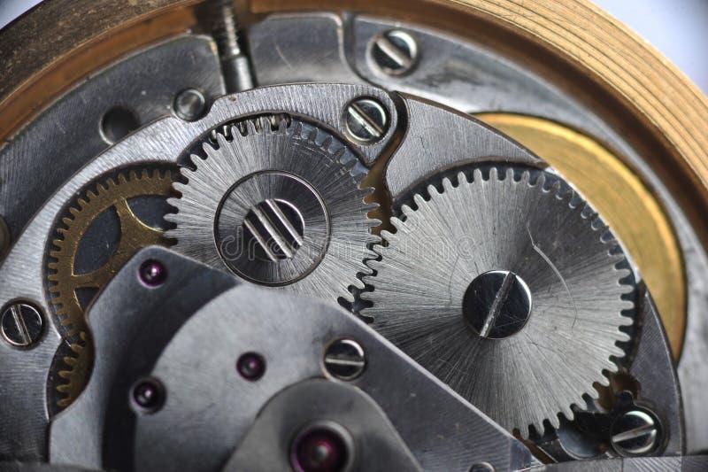 Alte Uhrgänge schließen oben stockbild