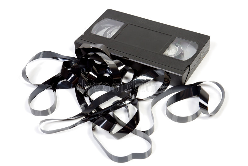 Alte unbrauchbare VHS-Kassette stockbilder