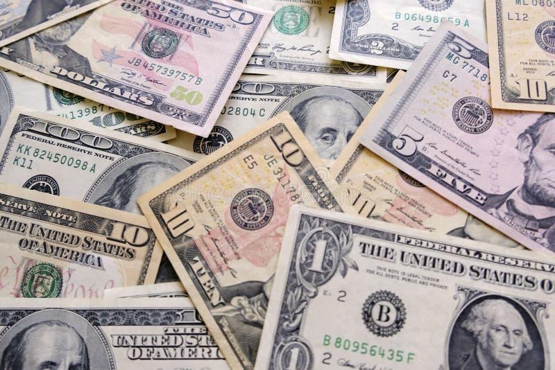 Alte und neue amerikanische Dollar Hintergrund stockfoto