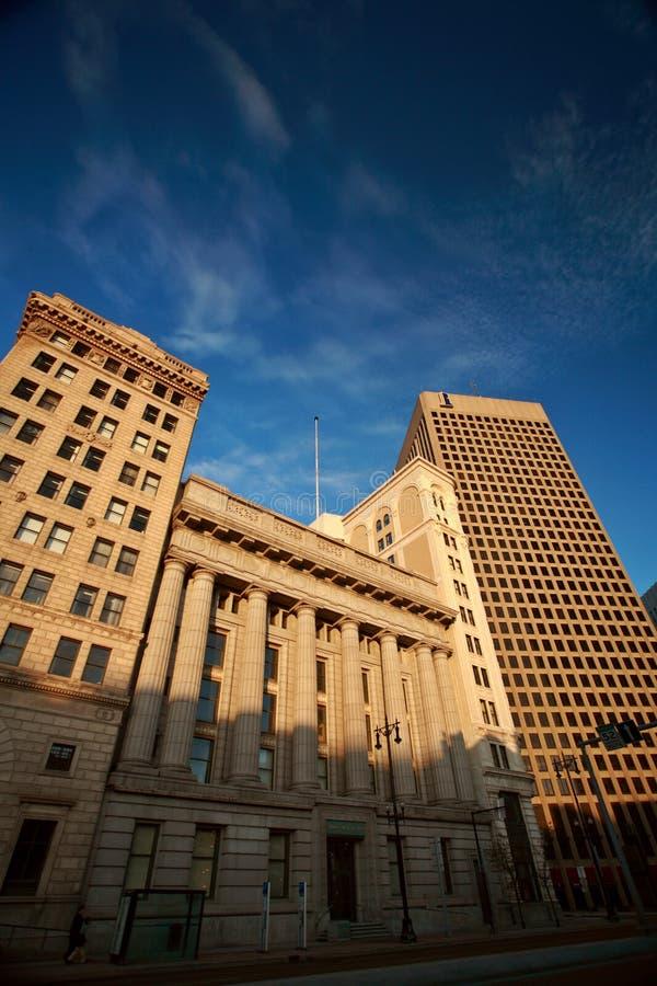 Alte und neue Winnipeg-Gebäude stockfotos