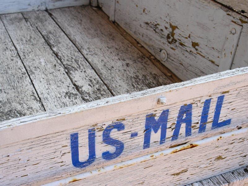Alte US-Mailbox lizenzfreies stockbild