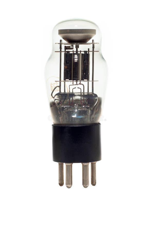 Alte Vakuumröhre lokalisiert auf Weiß stockfotos
