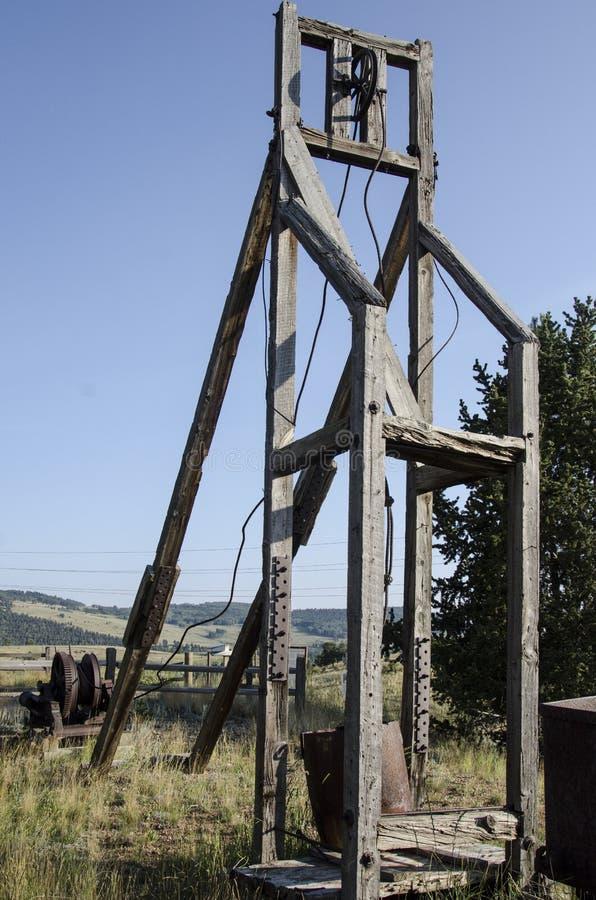 Alte verlassene Goldmine gelegen in Victor Colorado lizenzfreie stockfotos