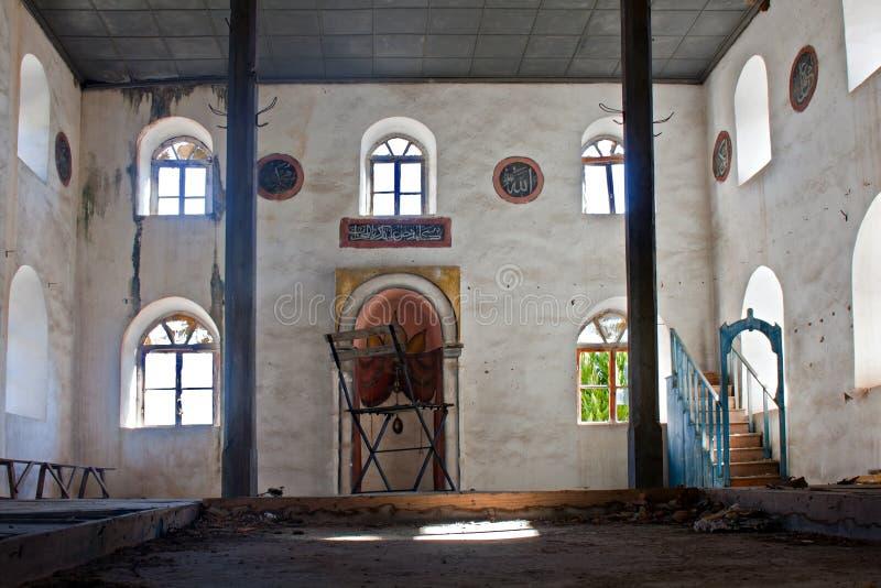 Alte verlassene griechische, türkische Moschee lizenzfreies stockbild