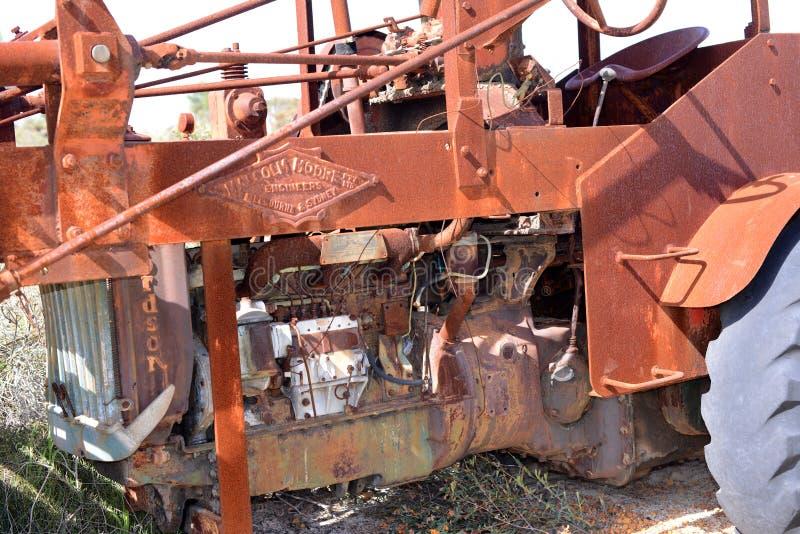 Alte verlassene landwirtschaftliche Maschinen in West-Australien lizenzfreie stockfotos