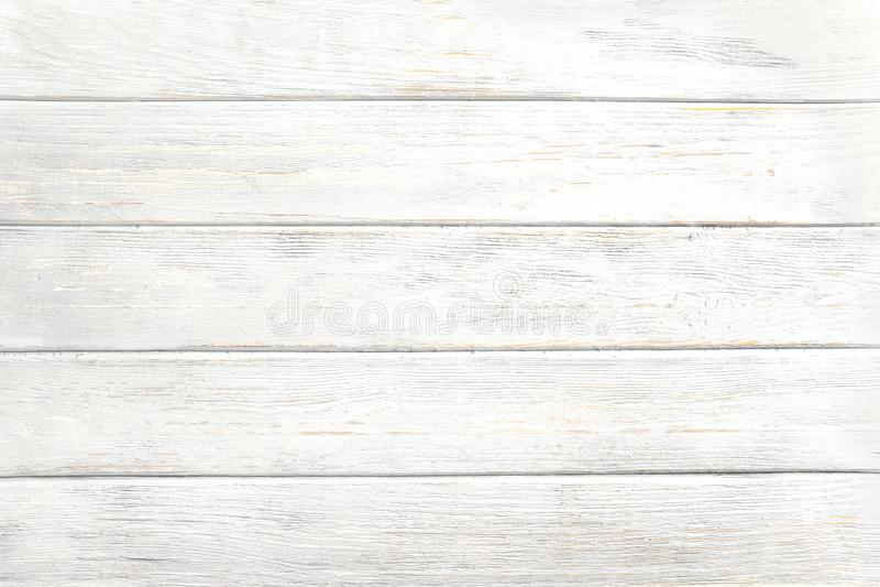 Alte verwitterte h?lzerne Planke gemalt in der wei?en Farbe stock abbildung
