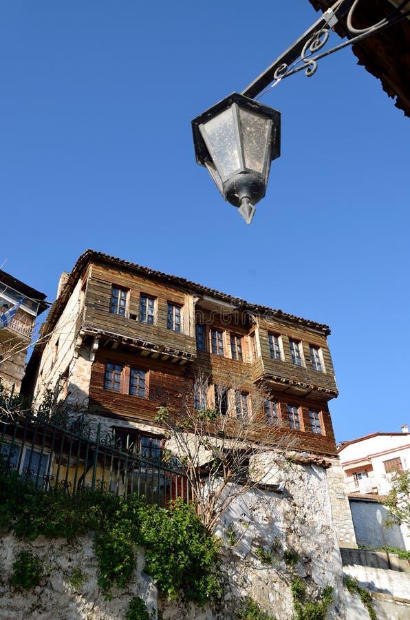 Alte Villa in Kastoria, Griechenland stockfotos
