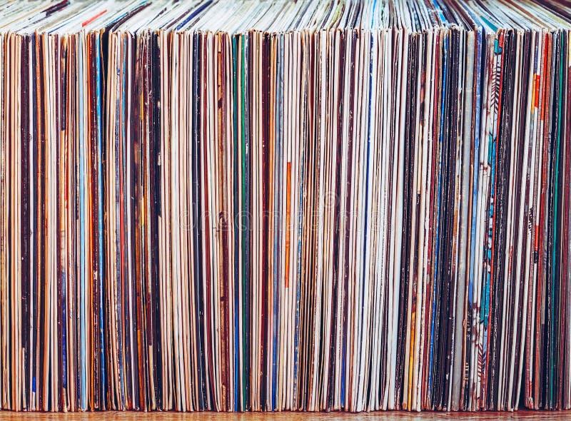 Alte Vinylaufzeichnungen, Sammlung Alben lizenzfreie stockbilder