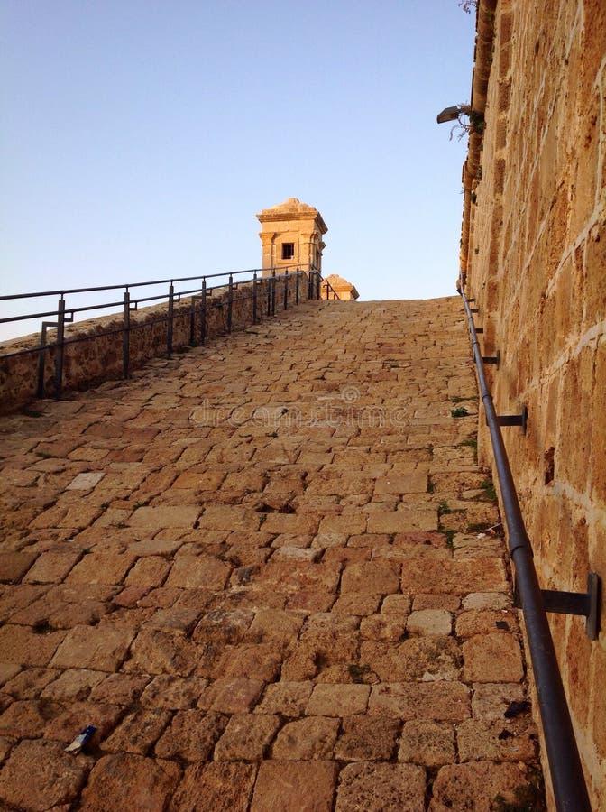 Alte Wände in Akko, Israel lizenzfreies stockfoto