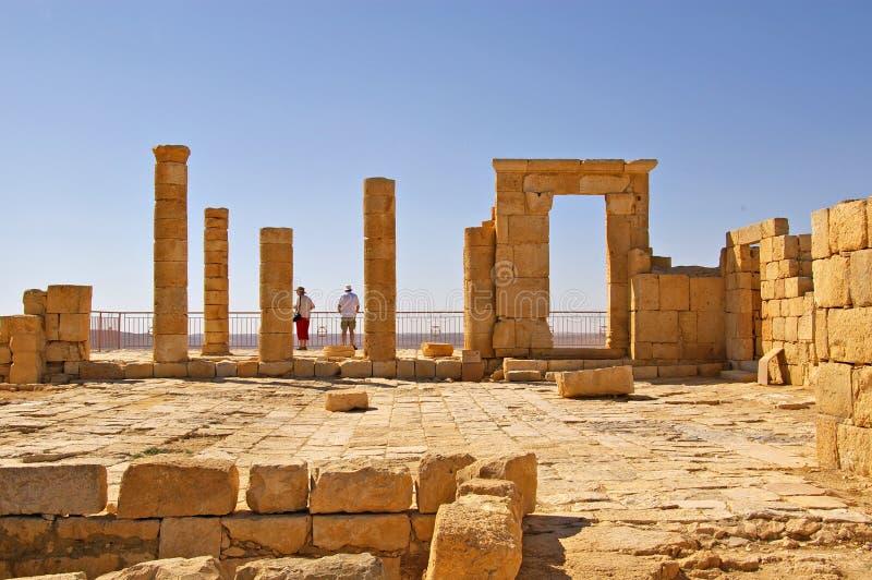 Alte Wüstenstadt Israel lizenzfreie stockbilder