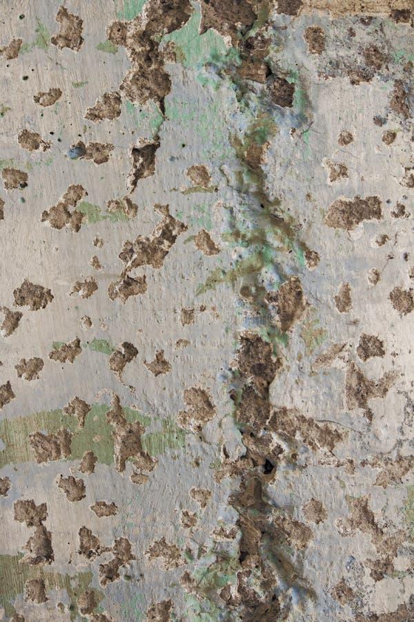 Alte Wand, abgenutzt und schimmelig lizenzfreies stockfoto