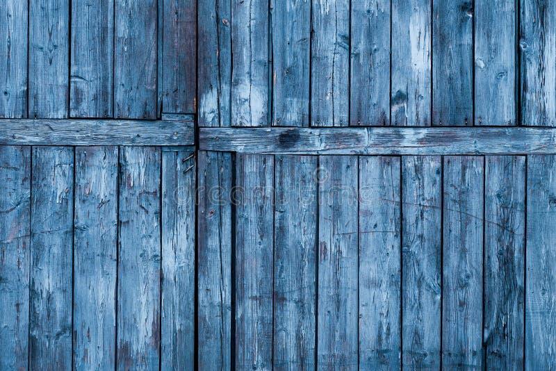 Alte Wand aus blauem Holz dicht an Abstrakter Hintergrund stockbild