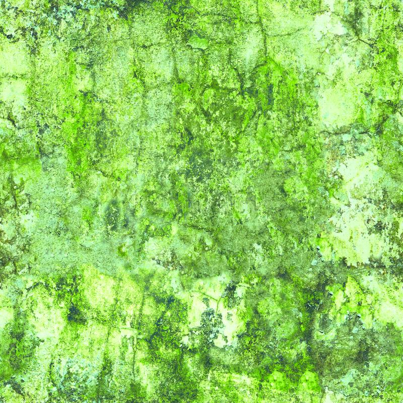Alte Wand in der grünen Form - verwitterte nahtlose Beschaffenheit lizenzfreies stockfoto