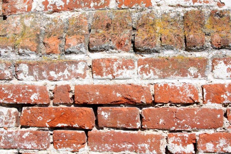 Alte Wand des roten Ziegelsteines stockbilder