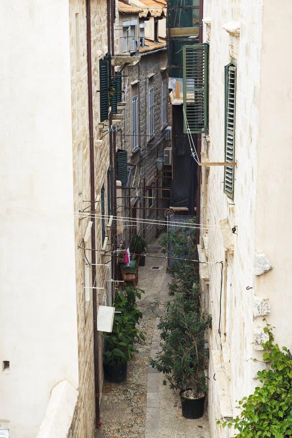 Alte Wege von Dubrovnik, Kroatien lizenzfreies stockbild