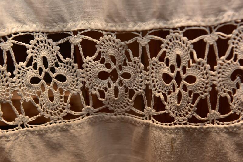 alte weiße Spitze, Detail lizenzfreie stockbilder