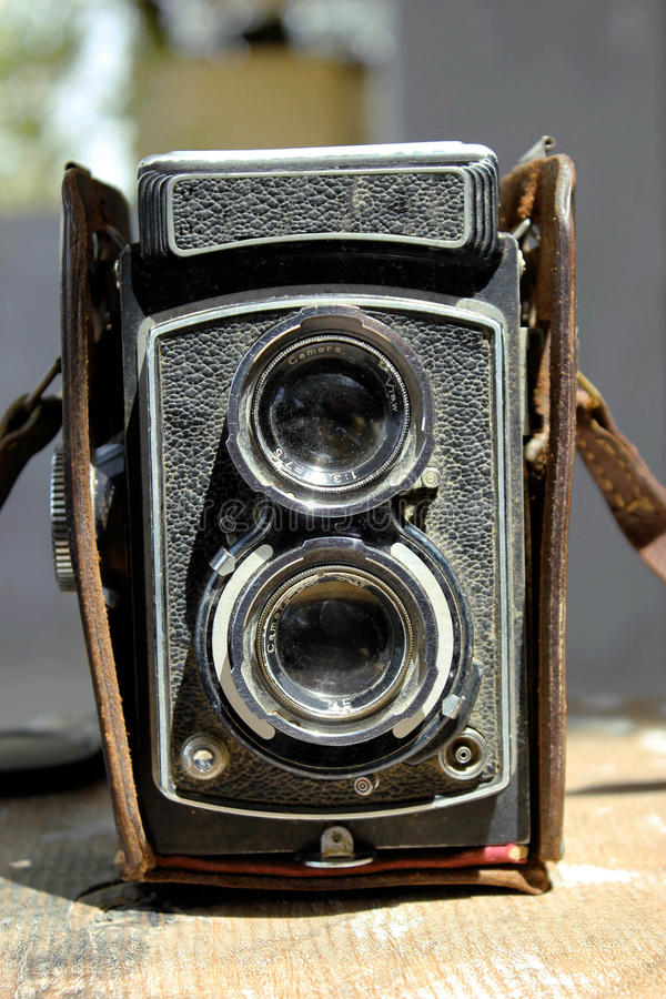 Alte Weinlesephotographiekamera lizenzfreie stockbilder