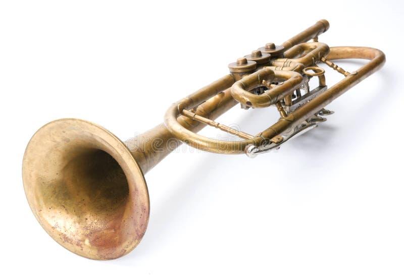 Alte Weinlesetrompete stockfoto