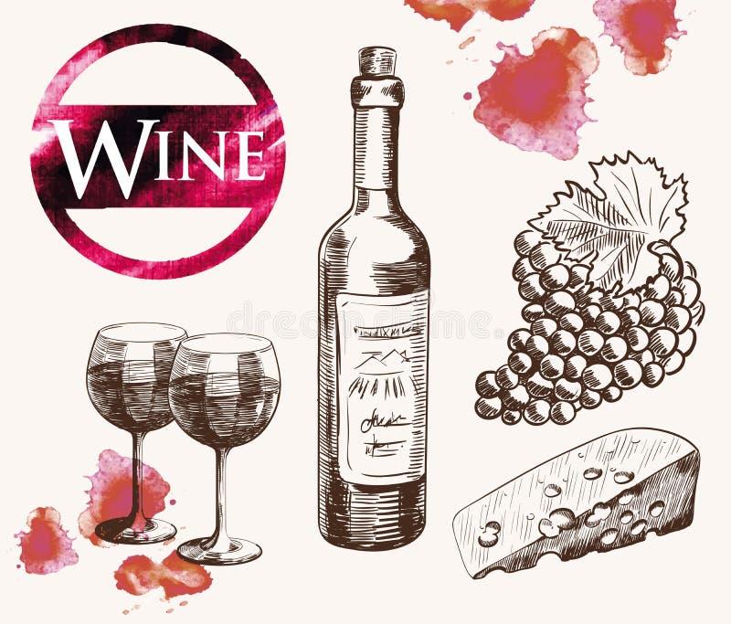 Alte Weinprobe lizenzfreie abbildung