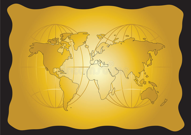 Alte Weltkarte lizenzfreie abbildung