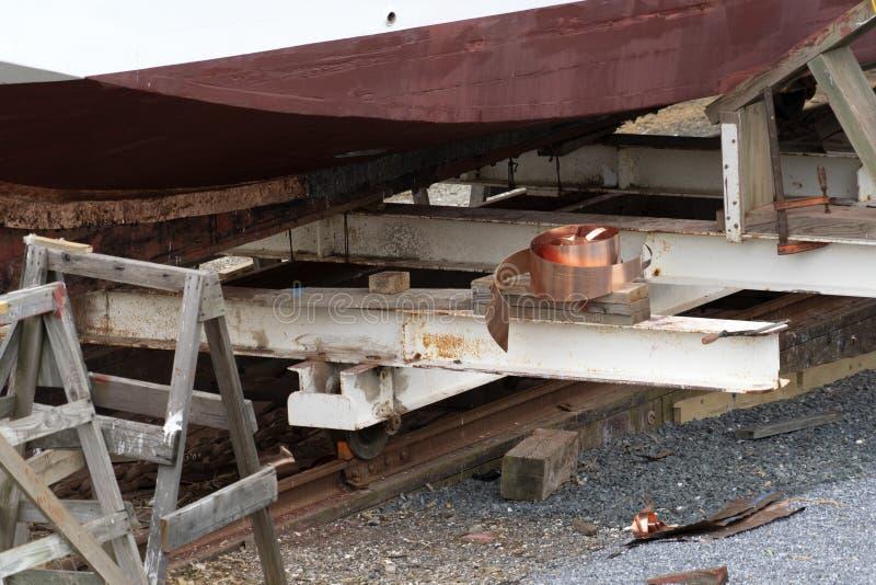 Alte Werft carpentery Arbeiten stockfotografie