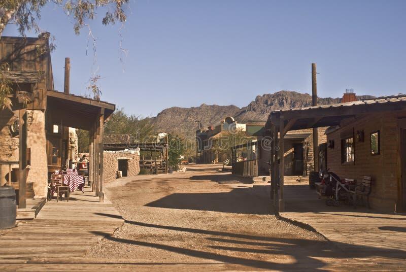 Alte westliche Straße stockfotos