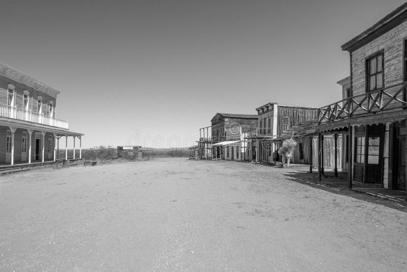 Alte wilde Weststadtfilmbühne in Arizona stockfoto
