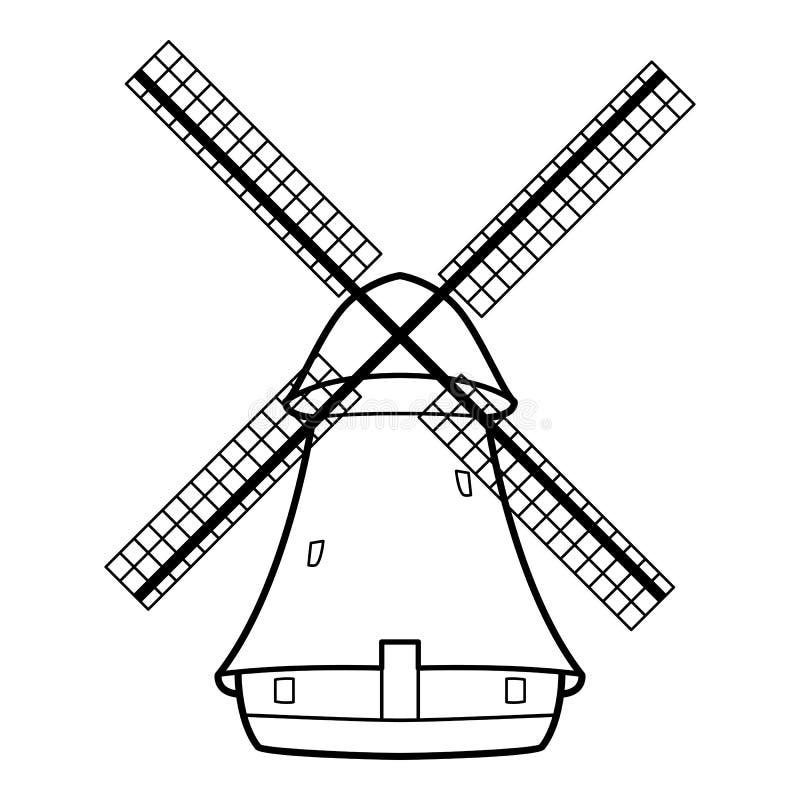 Alte Windmühle lizenzfreie abbildung