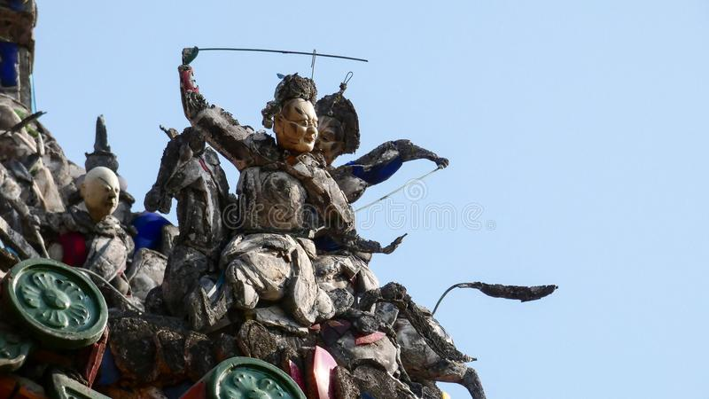 Alte Zahlen Taiwans der Longshan-Tempel lizenzfreie stockfotos