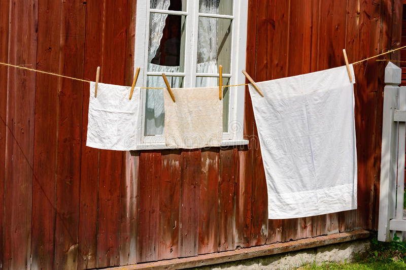 Alte Zeit der Wäscherei lizenzfreie stockbilder