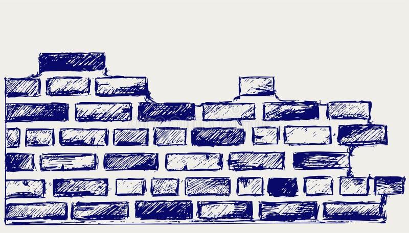 Alte Ziegelsteine stock abbildung