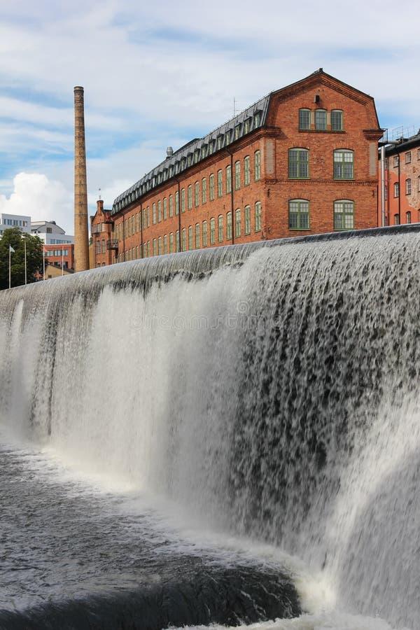 Alte Ziegelsteinfabrik. Industrielandschaft. Norrkoping. Schweden stockfotografie