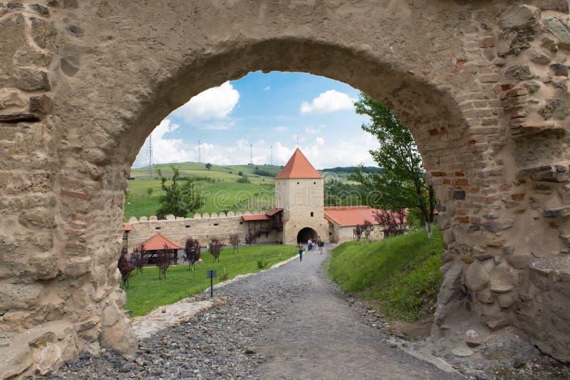 Alte Zitadelle Rupea in Siebenbürgen Rumänien lizenzfreies stockbild