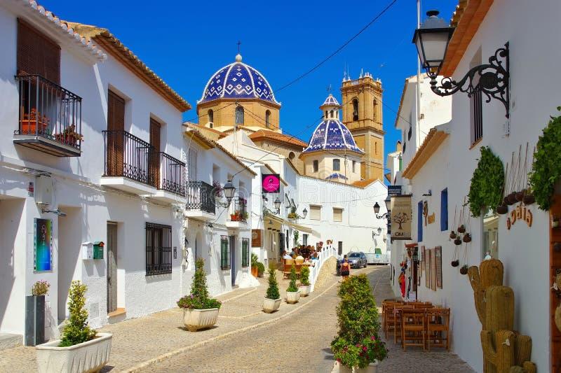 Altea на Blanca Косты, Испании стоковое фото