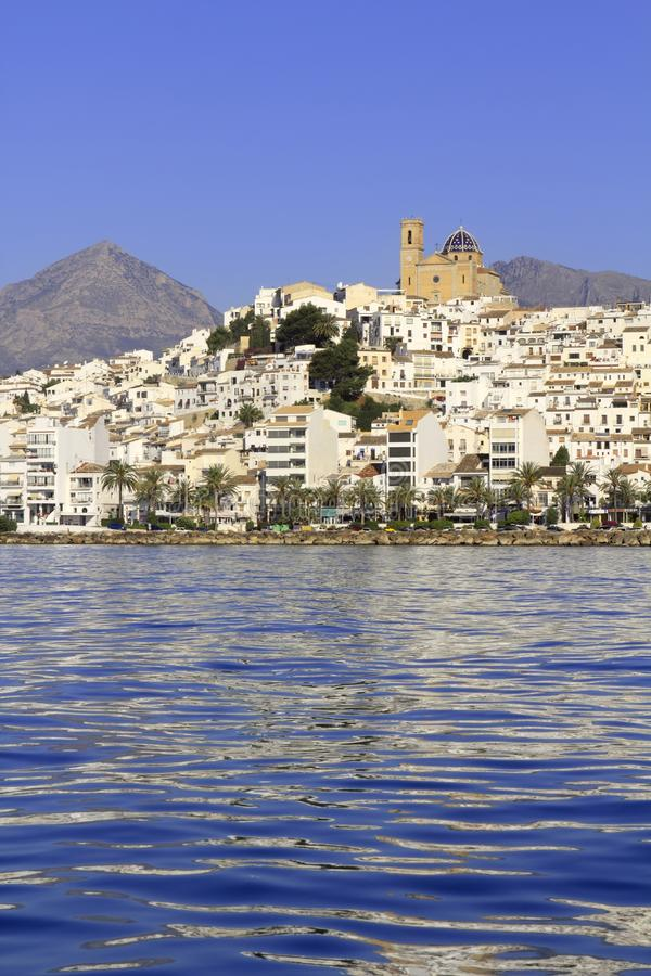 Altea Alicante Province Spain View From Blue Sea Royalty Free Stock Photo