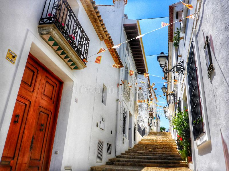 Altea streets royalty free stock images