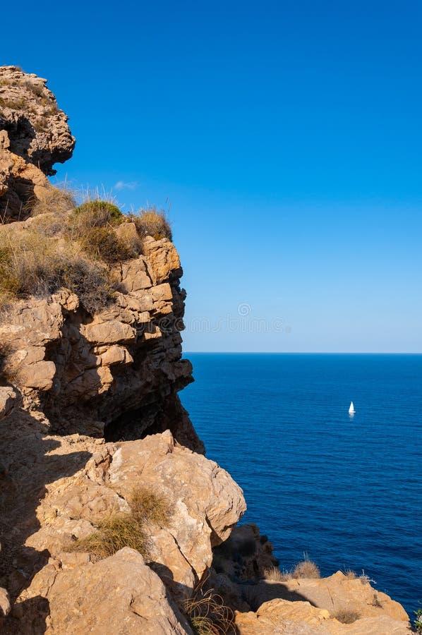 Altea, uma cidade na costa mediterr?nea da costa branca, um destino do turista na Espanha imagens de stock