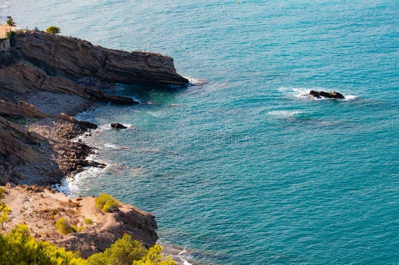 Altea, una ciudad en la costa mediterr?nea de la costa blanca, un destino tur?stico en Espa?a fotografía de archivo