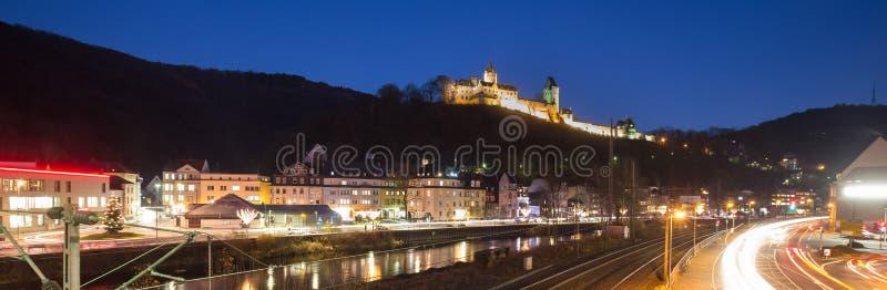 Altena Alemania en la noche fotografía de archivo libre de regalías