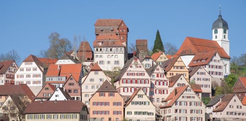 Altensteig,黑森林,德国 免版税图库摄影