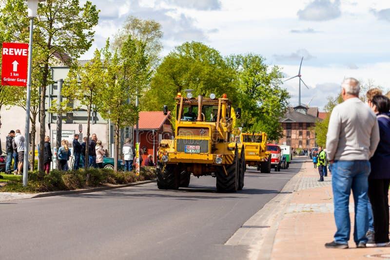 Russian Kirowez K 700 tractor royalty free stock photos