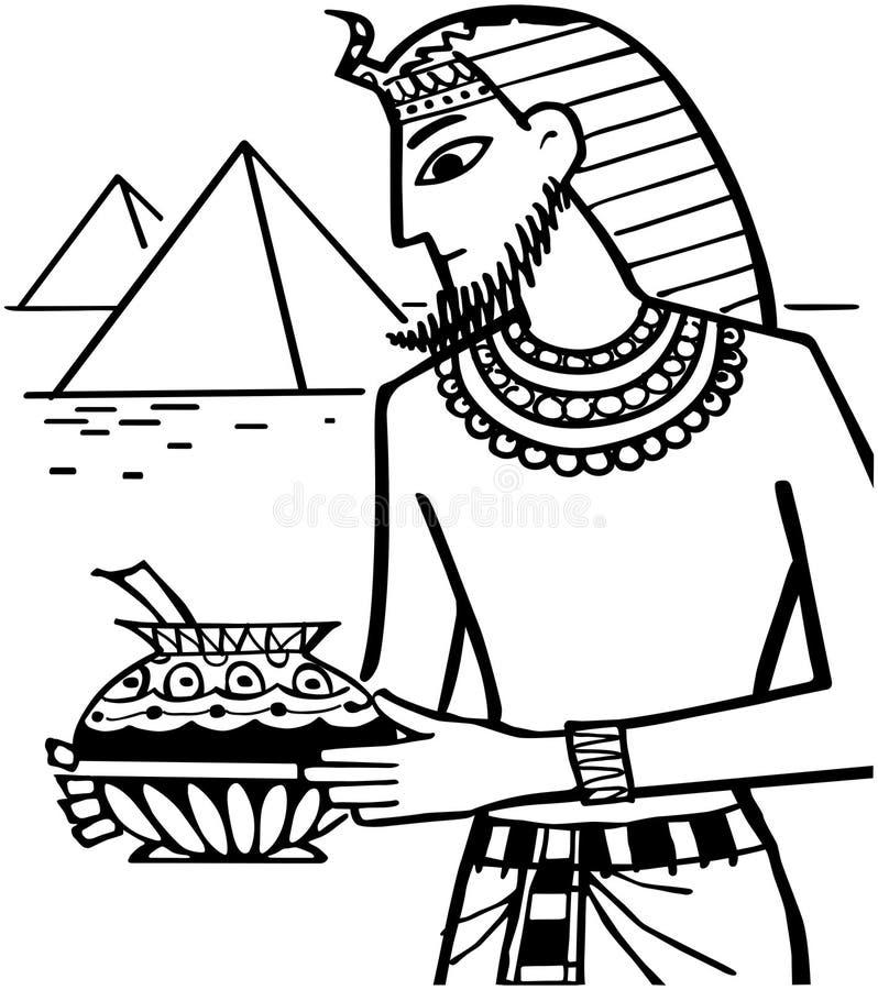 Alter Ägypter lizenzfreie abbildung