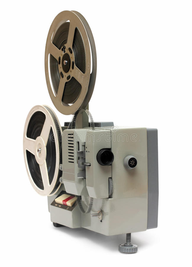 Alter 8mm Projektor stockbilder